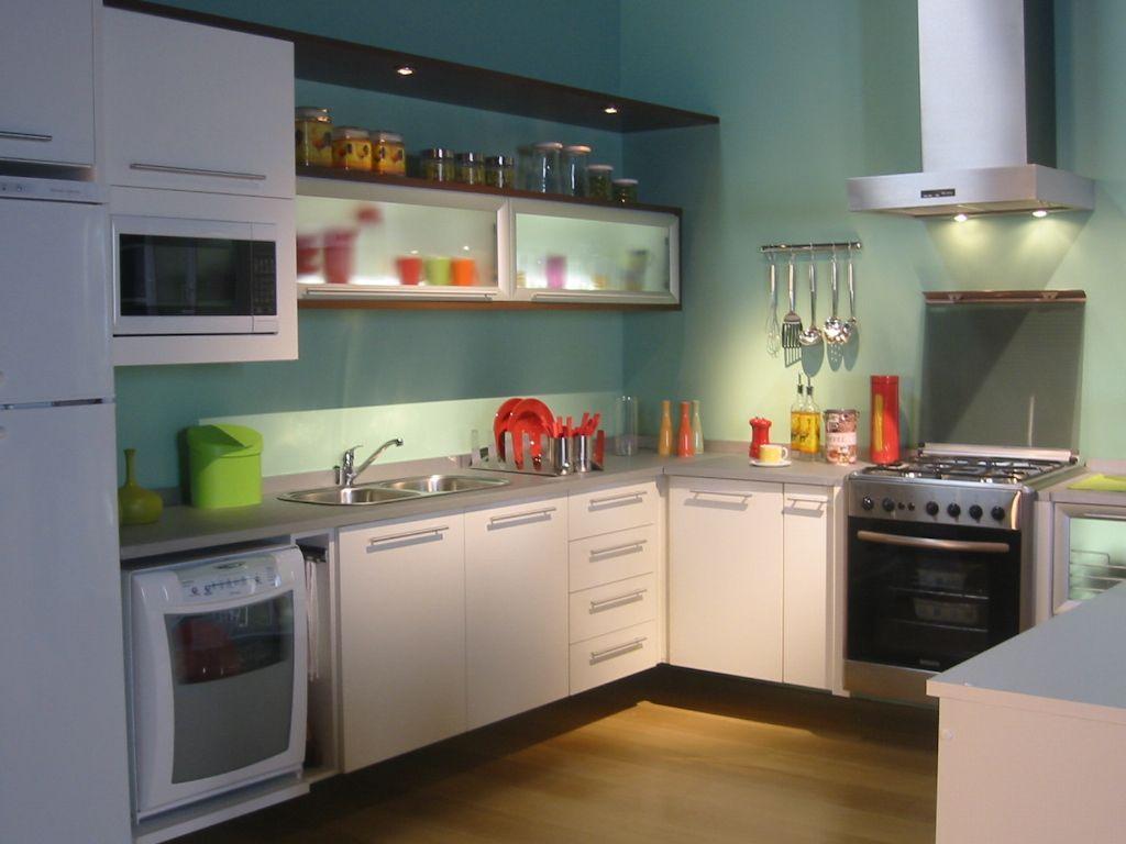 55 Cozinhas em L  Fotos e Ideias Lindas # Cozinha Planejada Pequena Com Vermelho