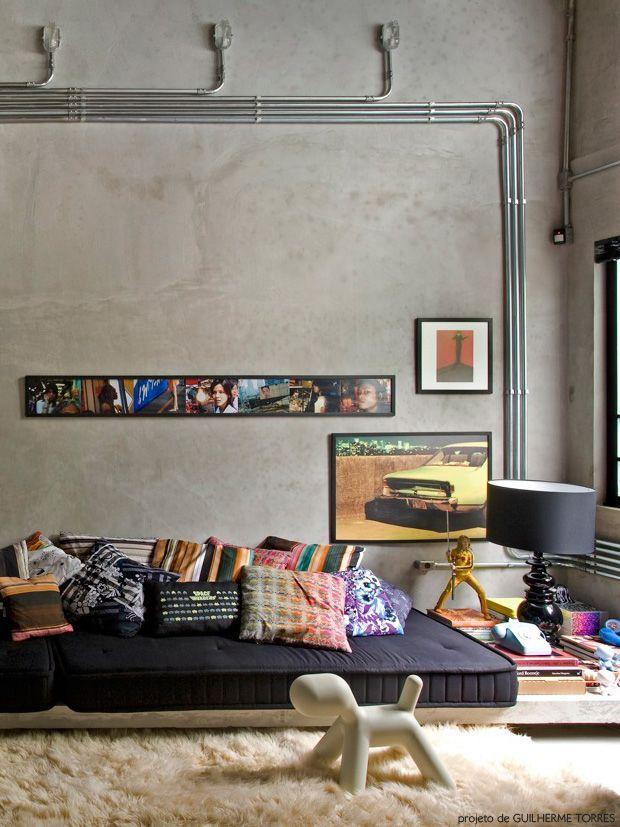 Sala com um estilo despojado