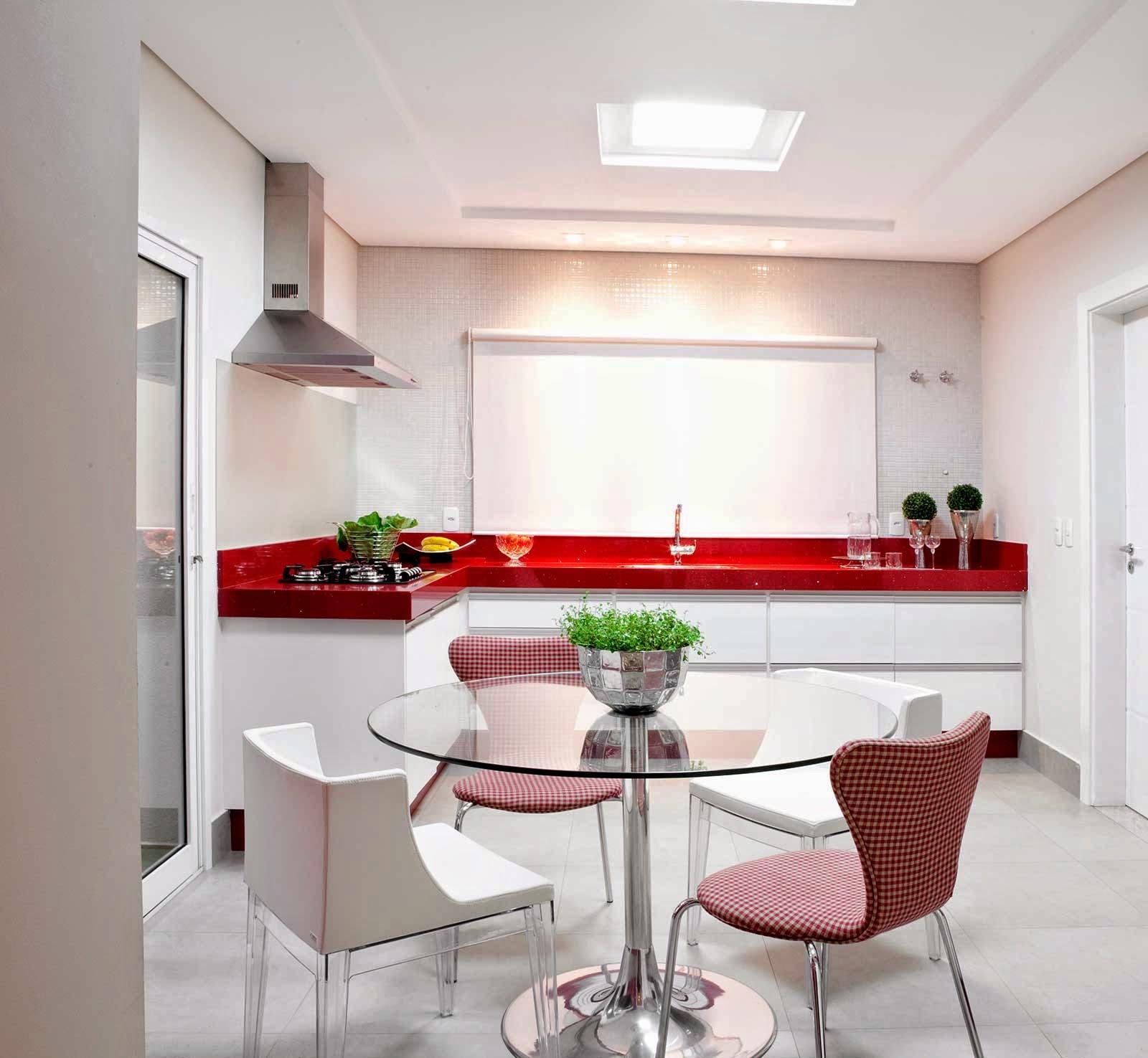 55 Cozinhas Em L Fotos E Ideias Lindas -> Sala Simples Clean