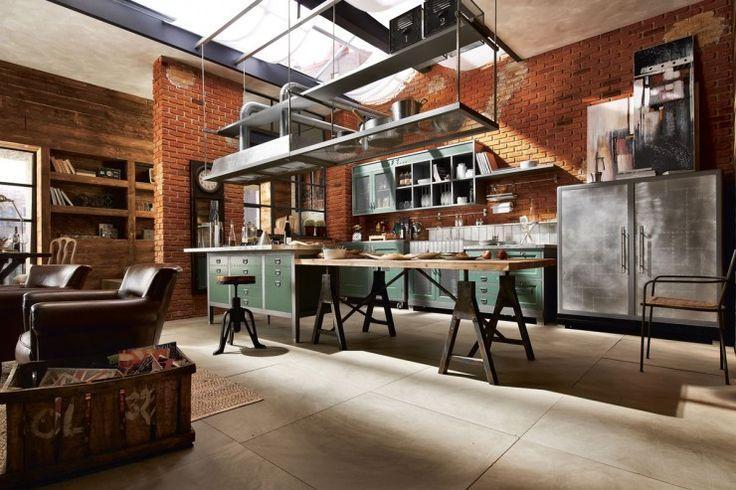 A cozinha aberta é uma característica forte no estilo