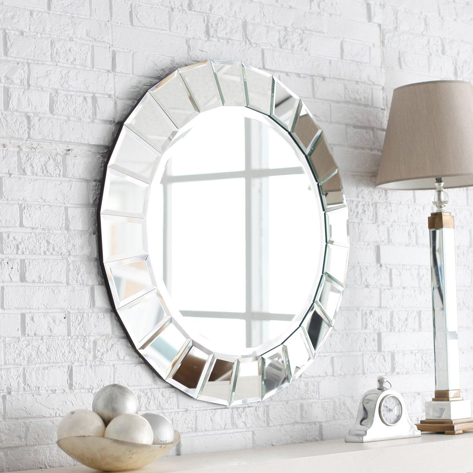 60 espelhos bisotados na decora o ideias e fotos - Espejos grandes para pared ...