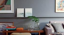Salas com decoração cinza