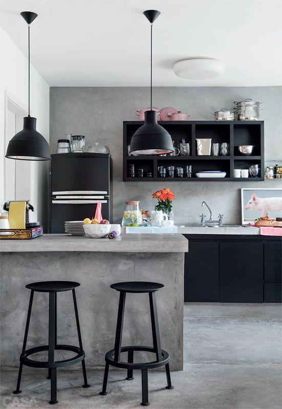 Cozinha com estilo jovial