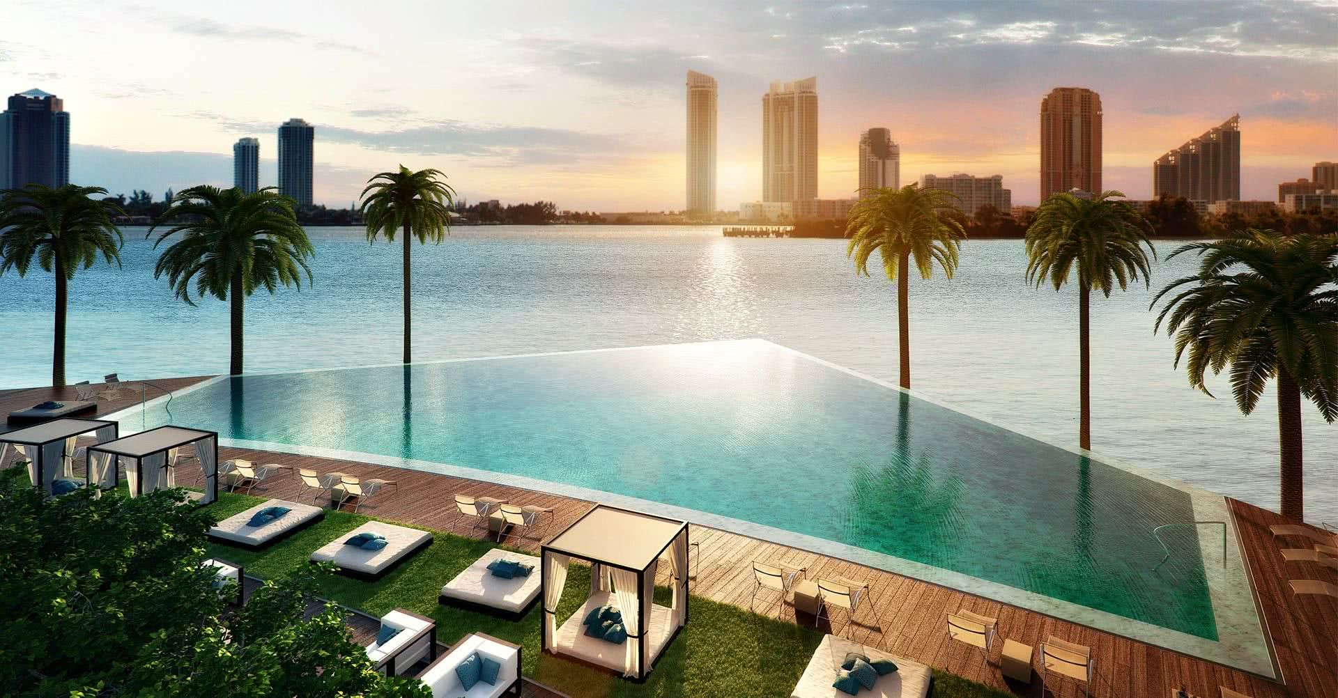 A localização da piscina permite um visual que vai de encontro com o mar!