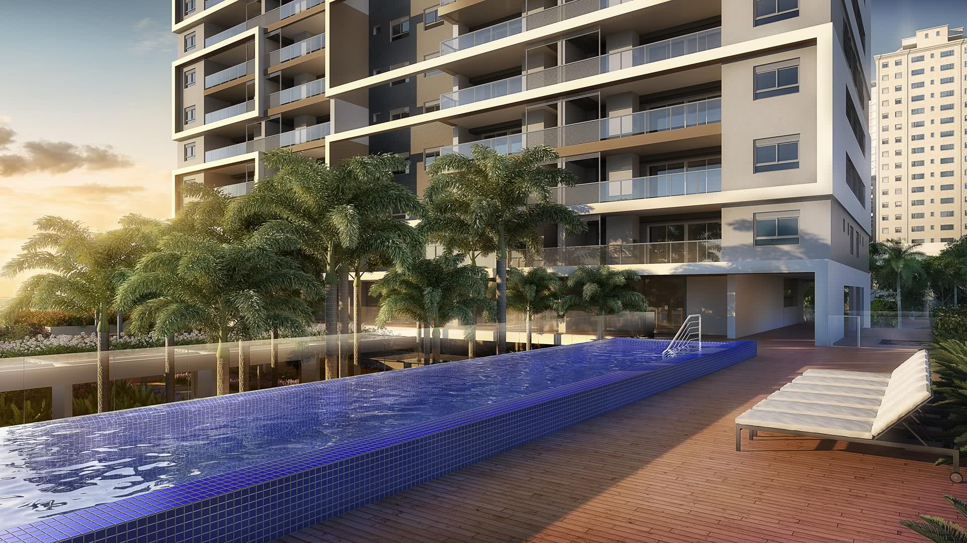 Empreendimentos residenciais também usam esta opção moderna em sua área de lazer.