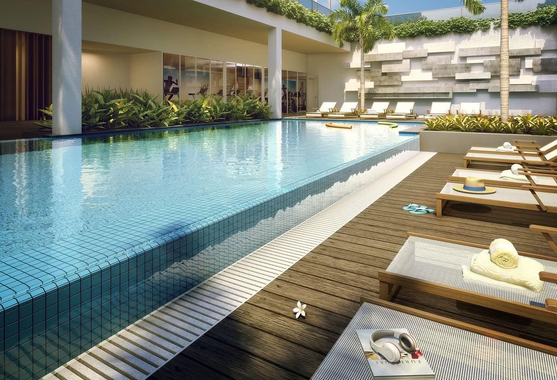 O material utilizado para a construção de uma piscina com borda infinita é o mesmo que as tradicionais