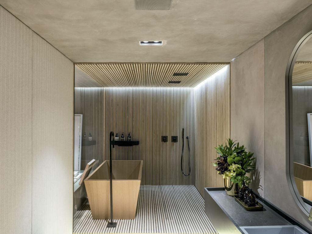 Imagens Lavando Banheiro : Banheiros modernos lindos e elegantes fotos