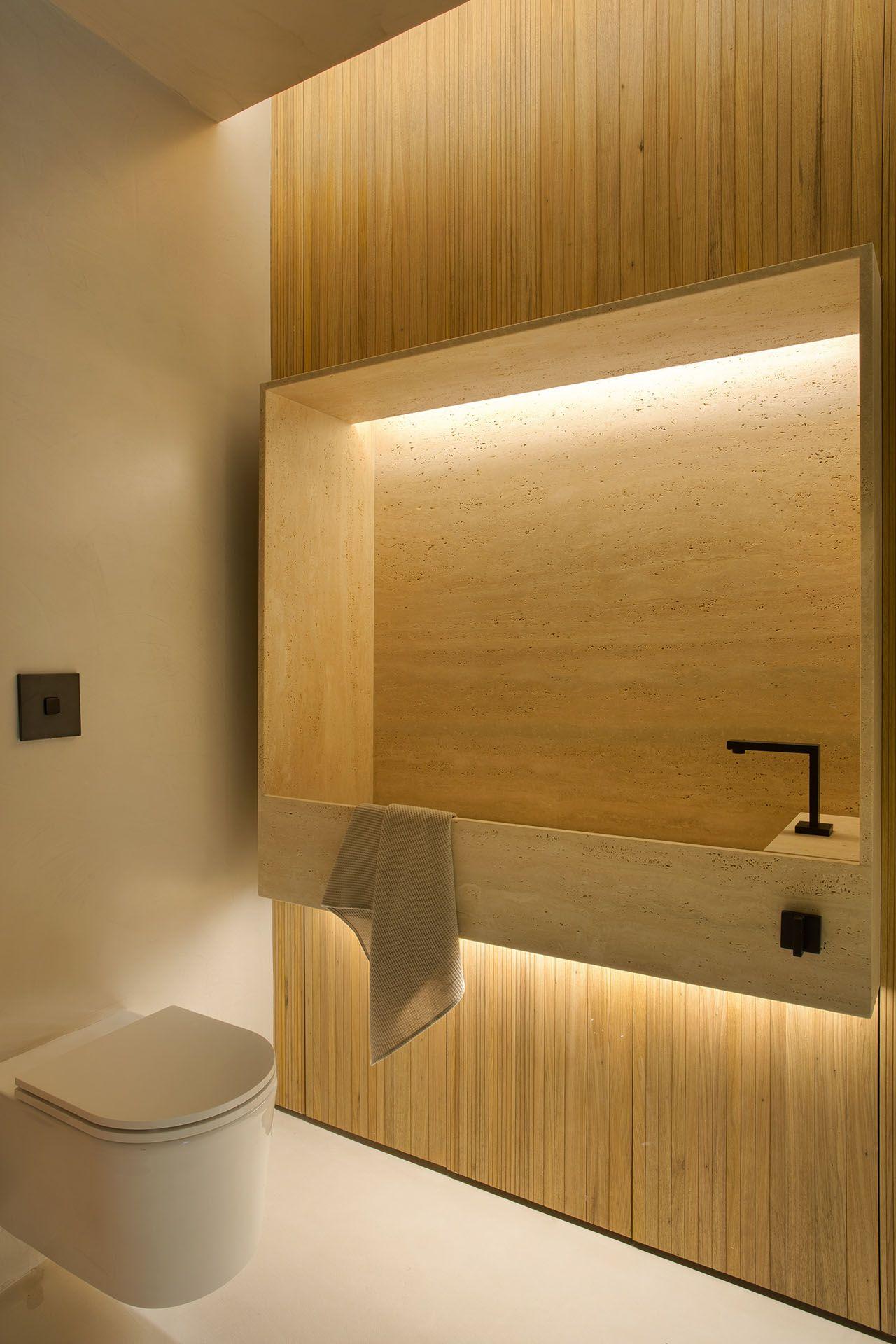 O design da cuba é o destaque do banheiro.