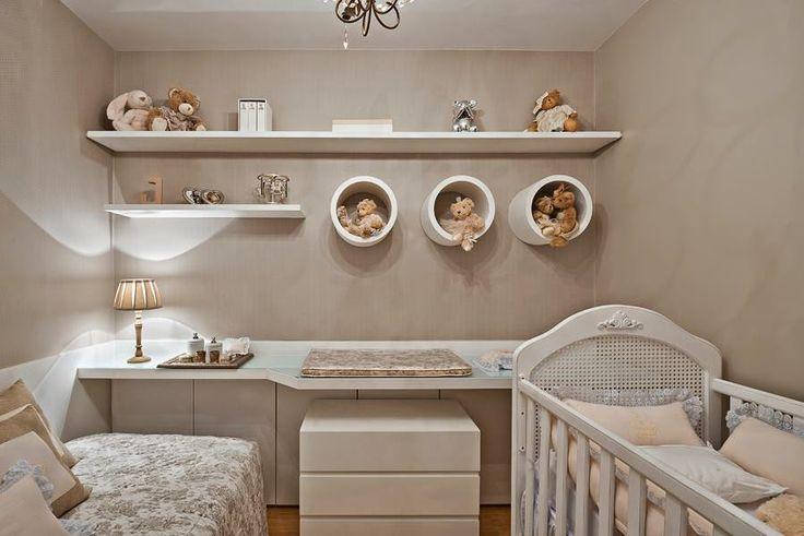60 Nichos para Quartos de Bebês Lindos e Inspiradores ~ Quarto Planejado Com Nichos