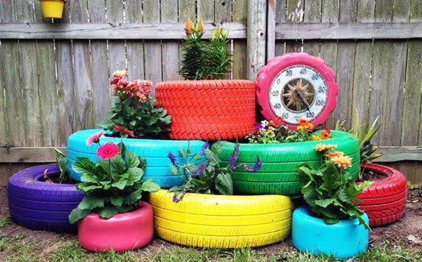 50 Jardins com Pneus - Fotos Lindas e Inspiradoras