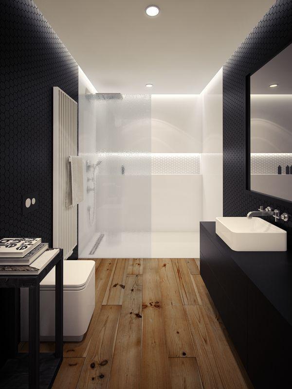 O box branco deu leveza a esse banheiro.