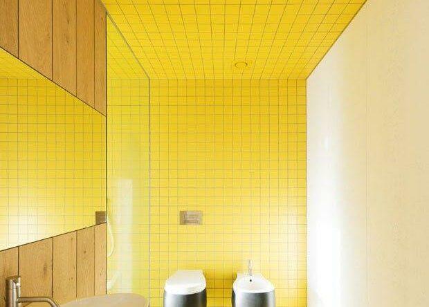 60 Banheiros amarelos decorados – Fotos lindas!
