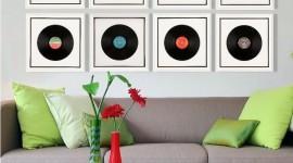 Decoração com discos de vinil – 60 Fotos, inspirações e ideias