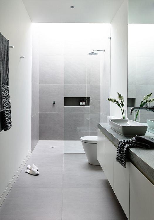 Duo perfeito na decoração: cinza e branco.
