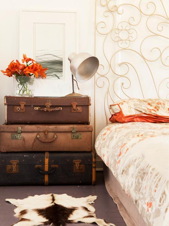 60 Fotos de decoração com malas para se inspirar