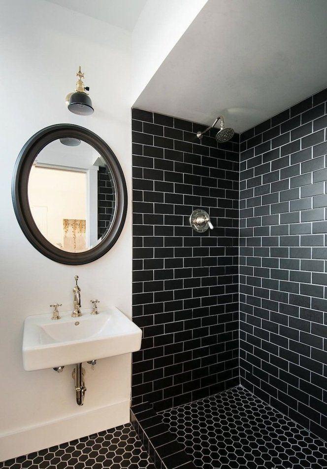 60 Banheiros Preto E Branco Decorados Fotos Lindas