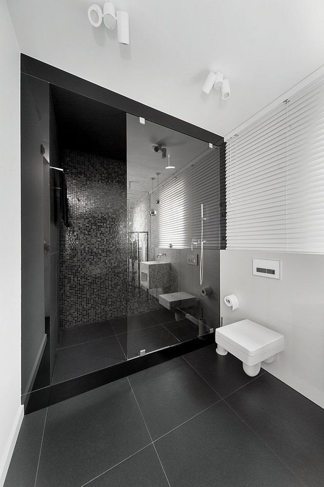 60 Banheiros Preto e Branco Decorados  Fotos Lindas -> Banheiro Simples Preto