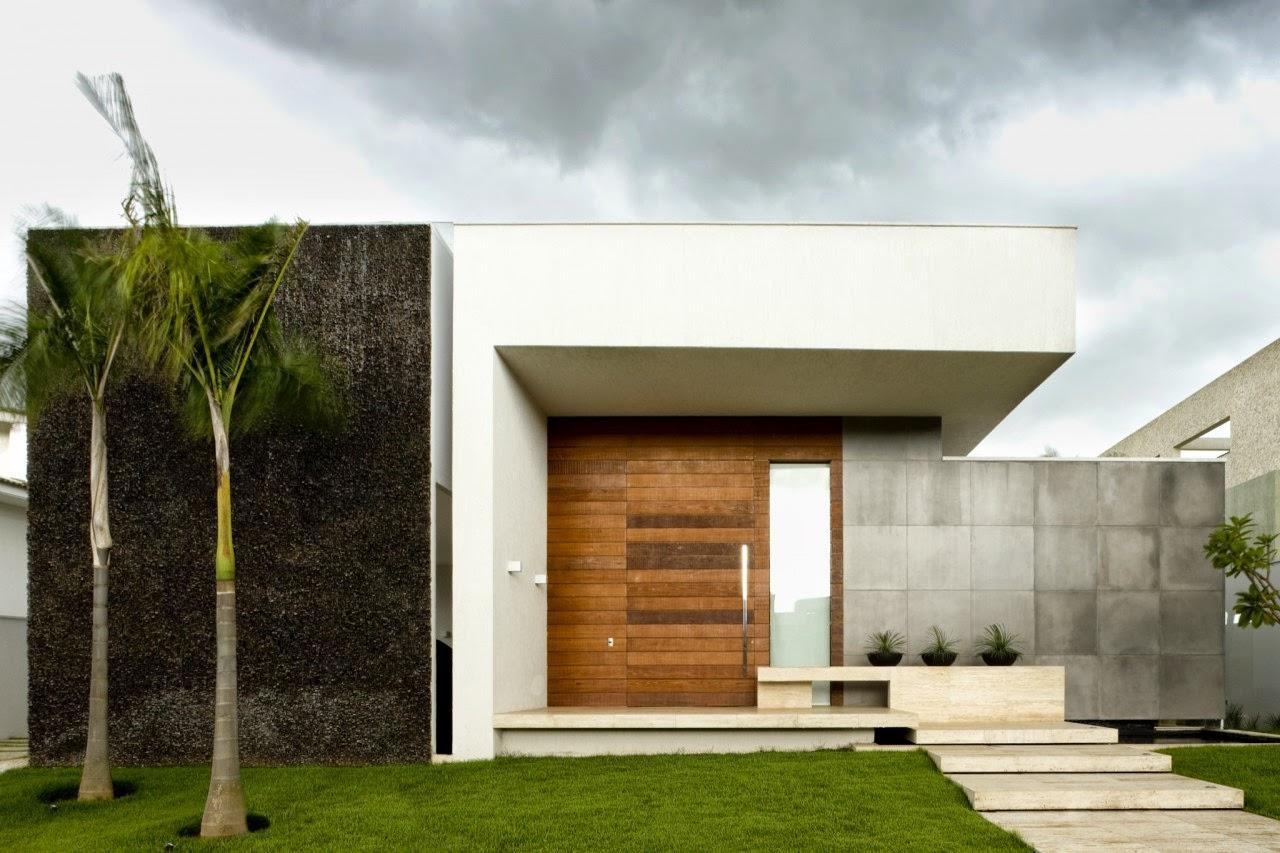 60 modelos de muros residenciais fachadas fotos e dicas for Modelos de casas minimalistas modernas
