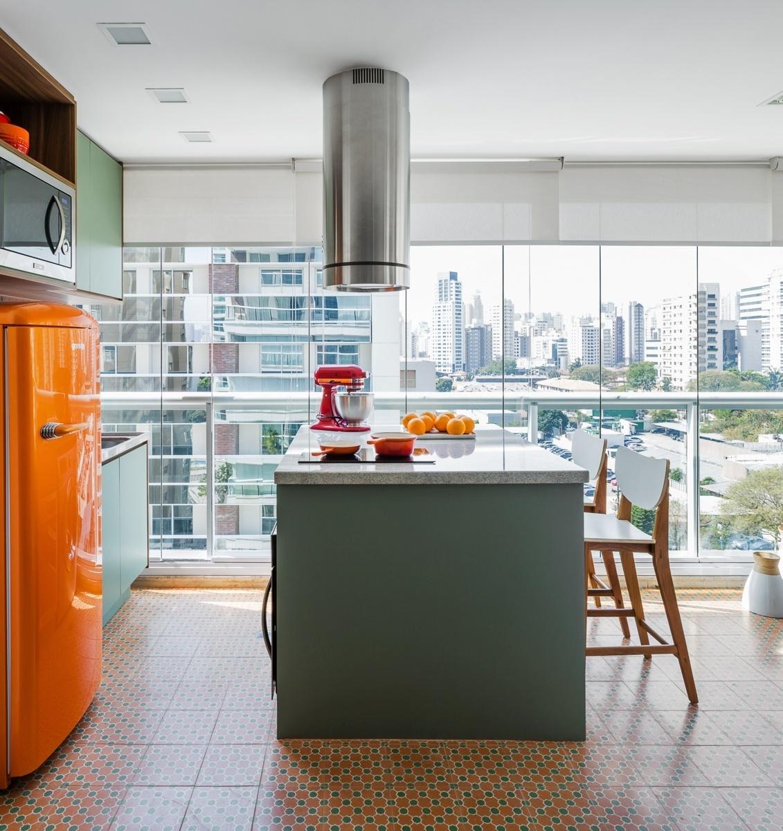 60 Cozinhas Retr S Lindas Para Voc Se Inspirar -> Cozinha Americana Com Sala Como Fazer Em Um Comodo
