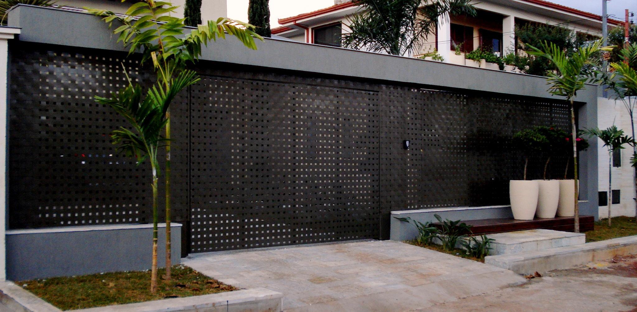 Suficiente 60 Modelos de Muros Residenciais: Fachadas, Fotos e Dicas XX95