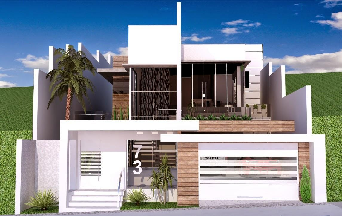 60 modelos de muros residenciais fachadas fotos e dicas - Ceramica para fachadas casas ...