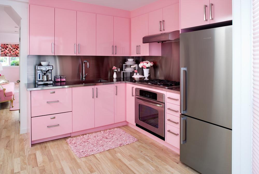 60 cozinhas rosas decoradas   fotos incr veis