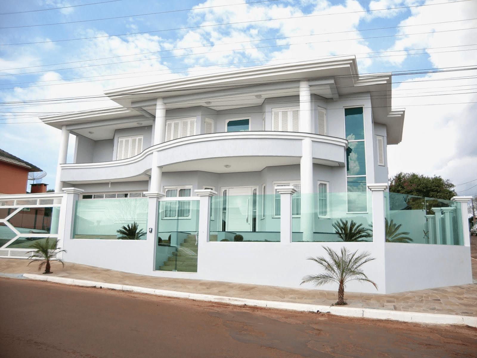 60 modelos de muros residenciais fachadas fotos e dicas for Casa moderna esquina