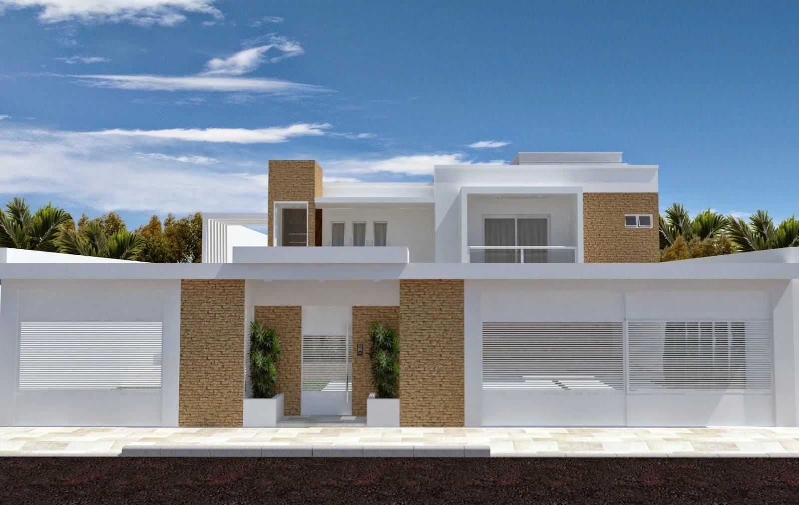 60 modelos de muros residenciais fachadas fotos e dicas for Modelo de fachada de casa