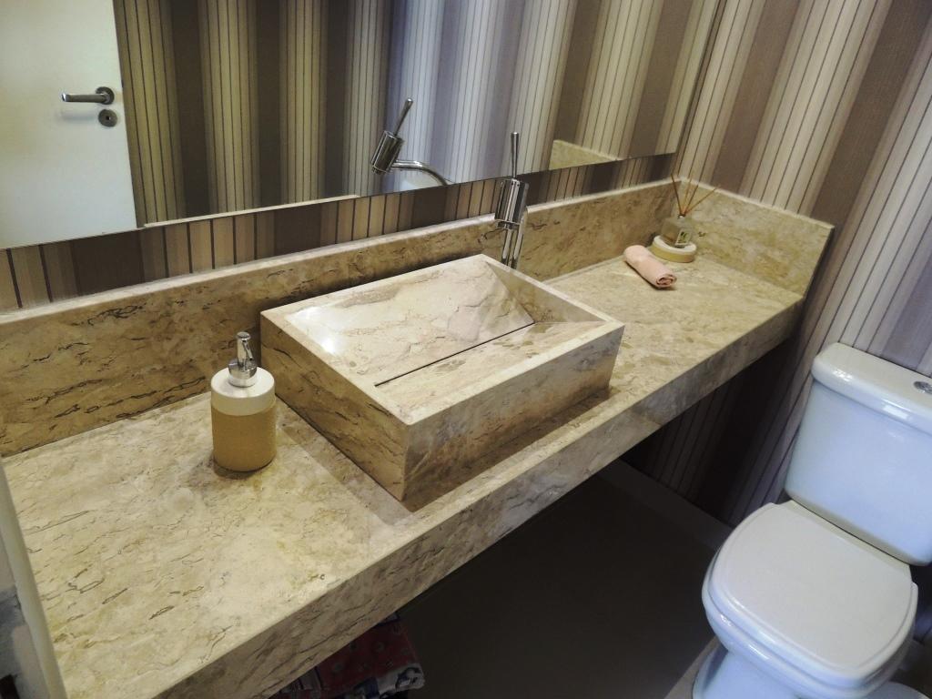 60 Bancadas com Cubas e Pias Esculpidas Fotos #425B8A 1024x768 Bancada Banheiro Duas Cubas