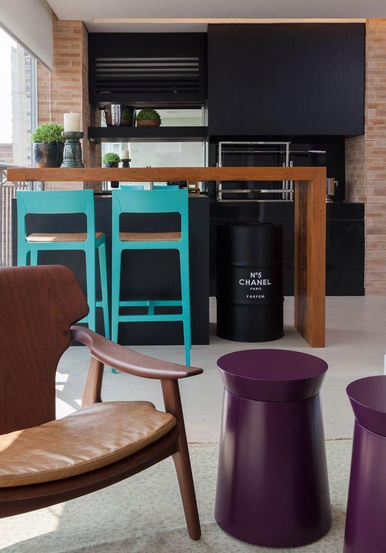 Decoração moderna para um espaço de churrasco!