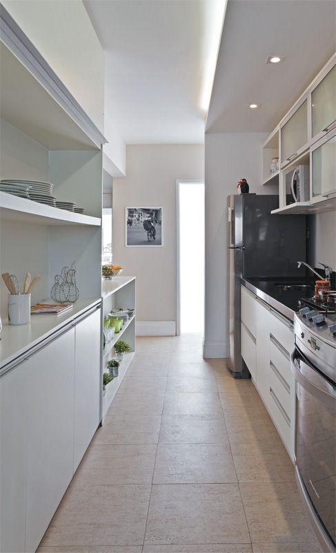 Para cozinhas com estilo corredor