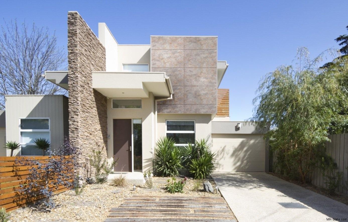 60 modelos de muros residenciais fachadas fotos e dicas for Piani di casa contemporanea moderna