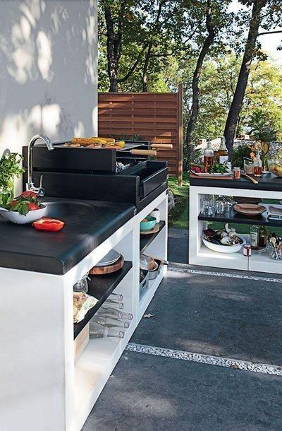 A churrasqueira aberta se encaixa em qualquer bancada