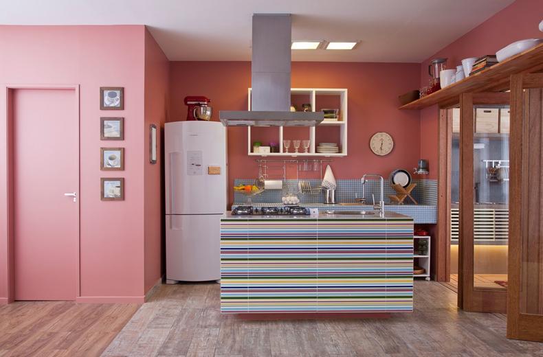 Cozinha com muita cor!