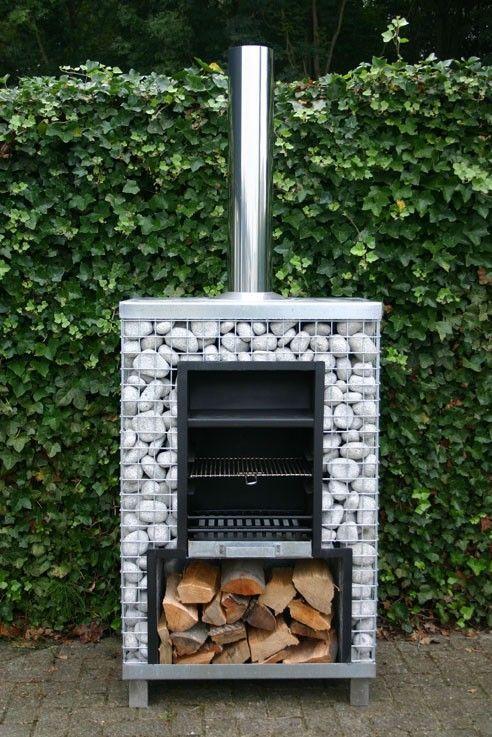 Pedra gabião para uma churrasqueira com design arrojado