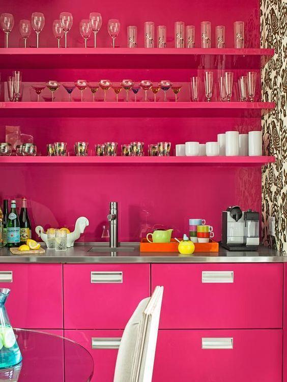 Rosa pink na cozinha