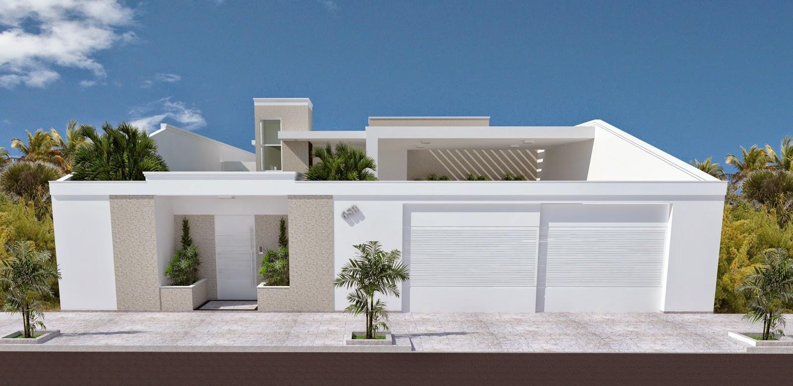 fotos de muros para frentes de casas 60 Modelos De Muros Residenciais Fachadas Fotos E Dicas