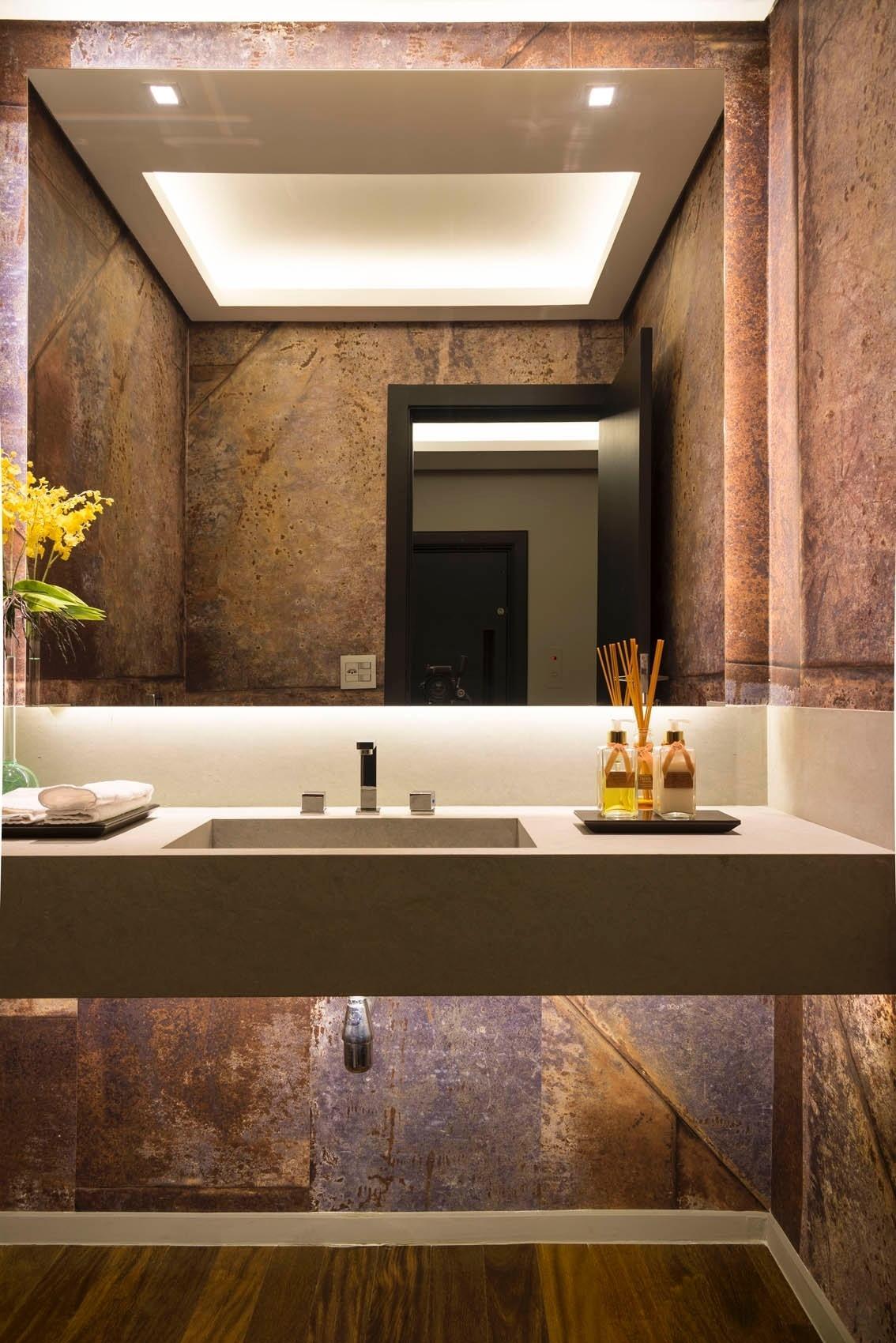 60 bancadas com cubas e pias esculpidas fotos - Altura de lavabo ...