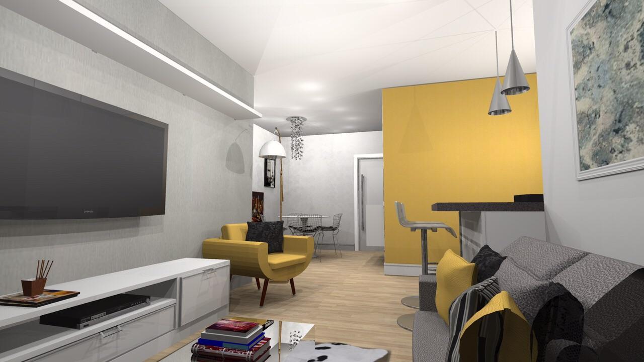 Paredes Amarelas 60 Inspira Es Para Sua Decora O -> Decoracao De Sala Pequena Vermelha E Amarela