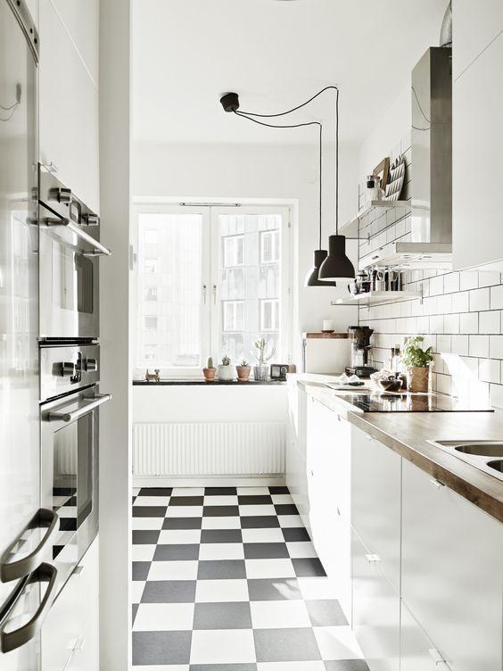 decoracao cozinha piso xadrez ? Doitri.com