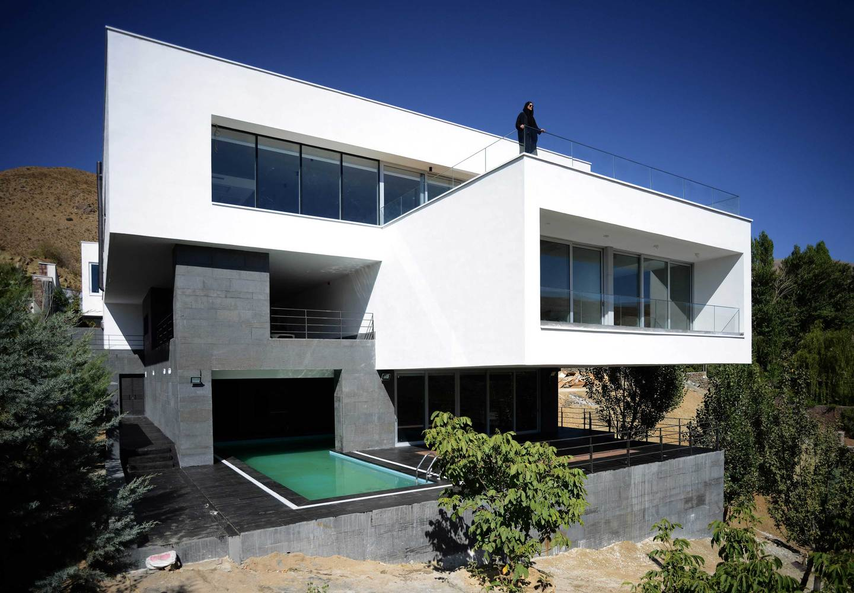 Projeto de casa bonita com volumetria em destaque