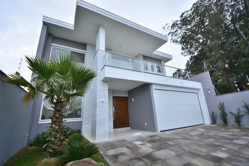 Projeto de casa bonita contemporânea para condomínios