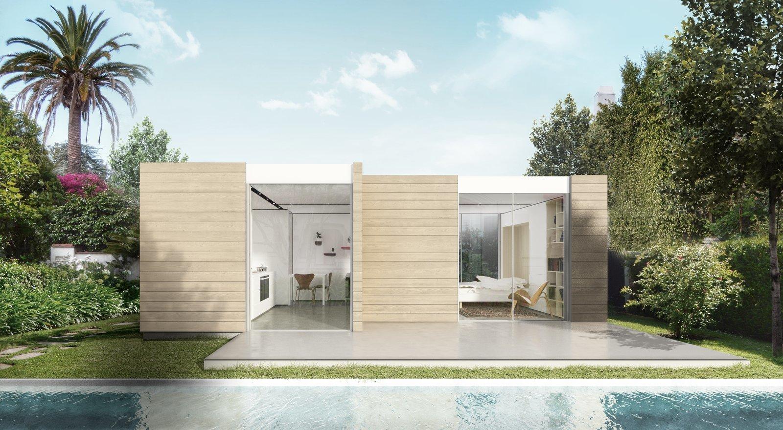 Fundo de casa bonita simples com piscina