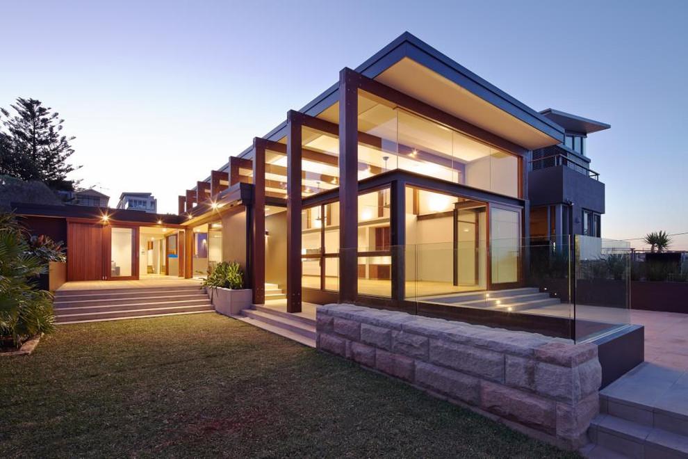 Projeto de casa com madeira