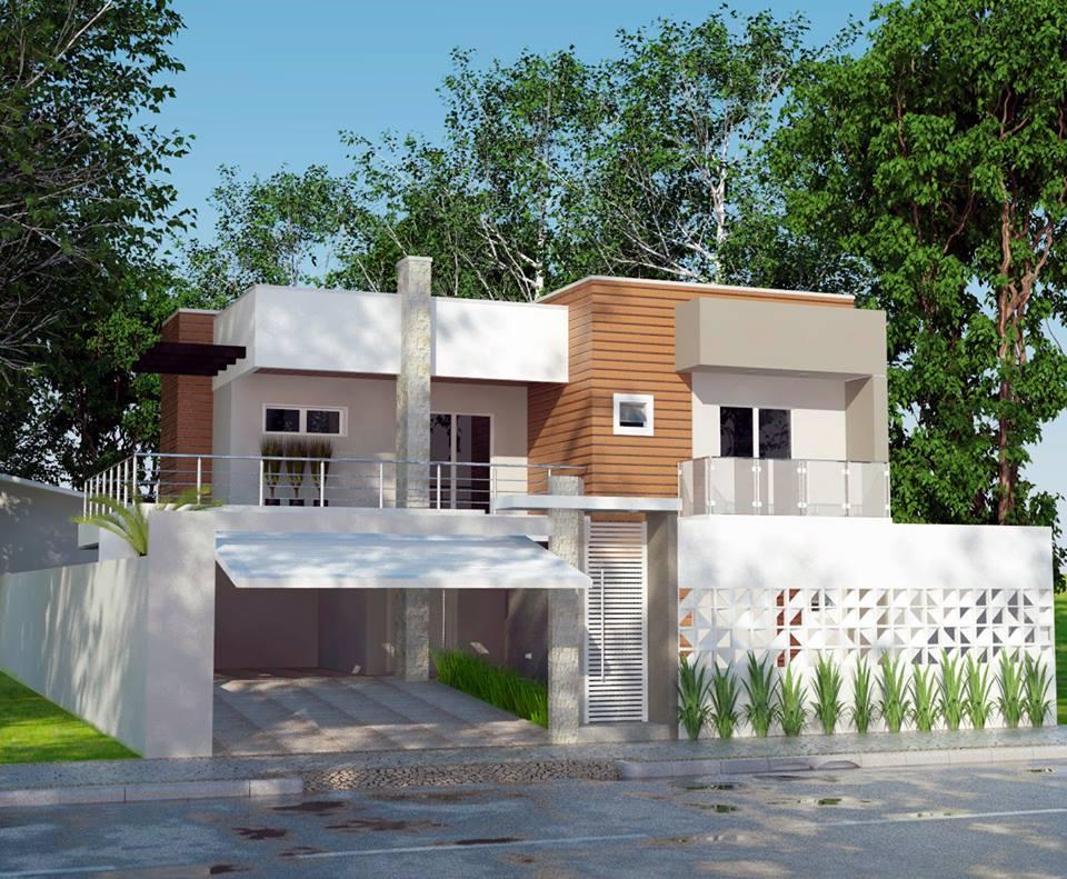 132 casas bonitas modernas fotos lindas for Fachadas de casas interiores