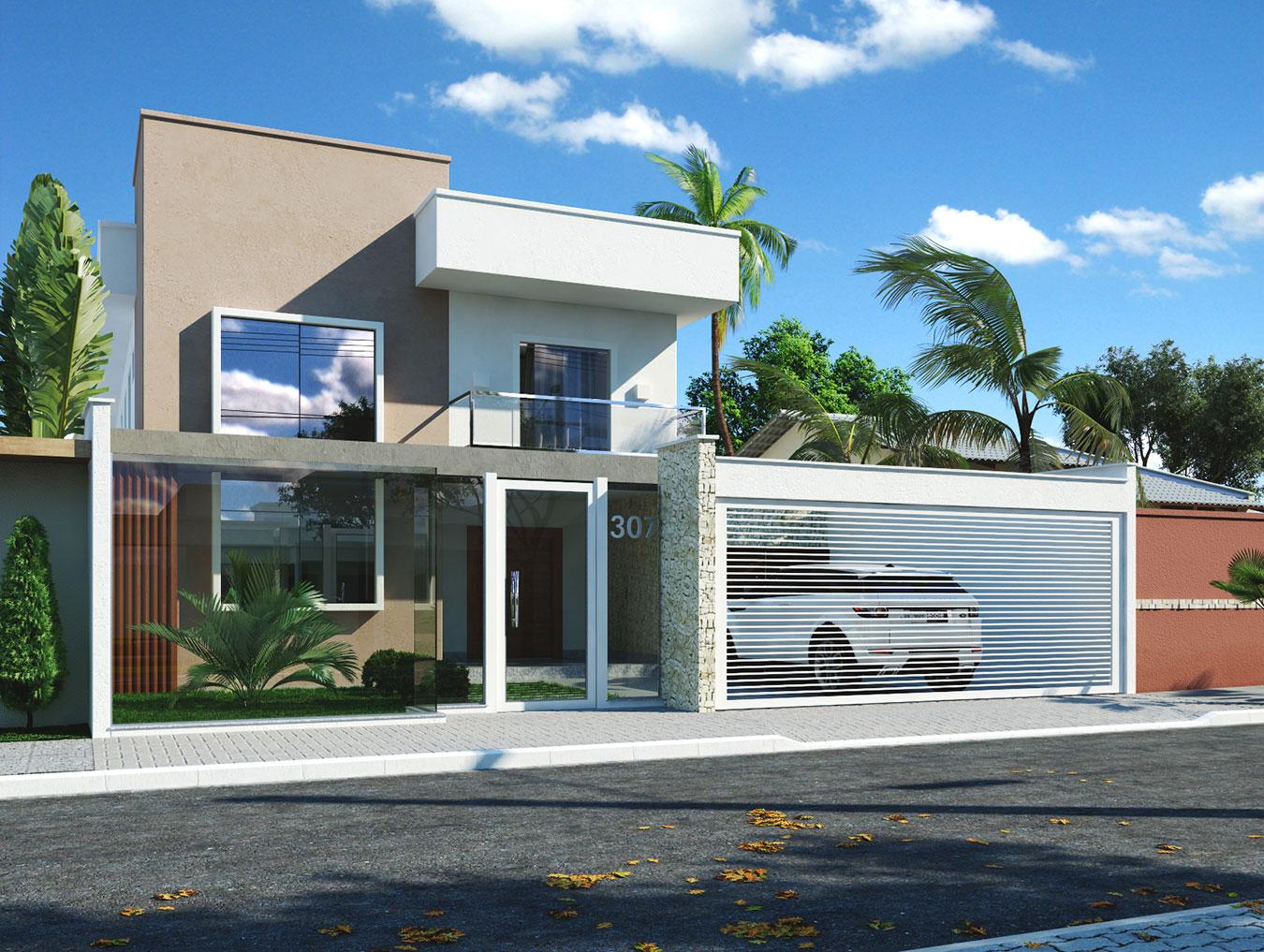 132 casas bonitas modernas fotos lindas - Porche casa moderna ...
