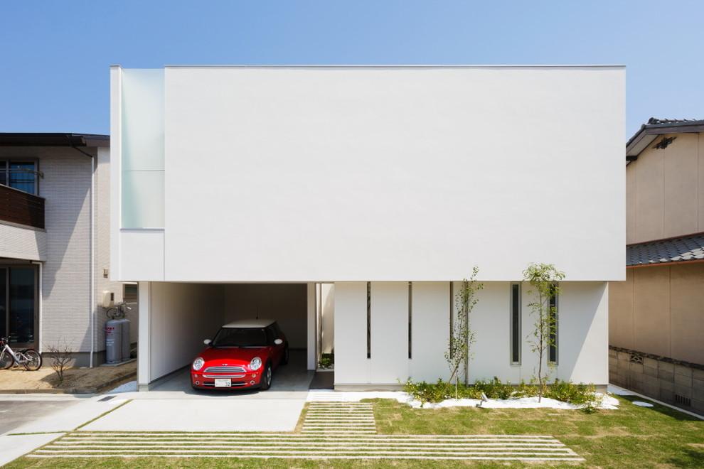 Casa bonita no estilo minimalista de arquitetura