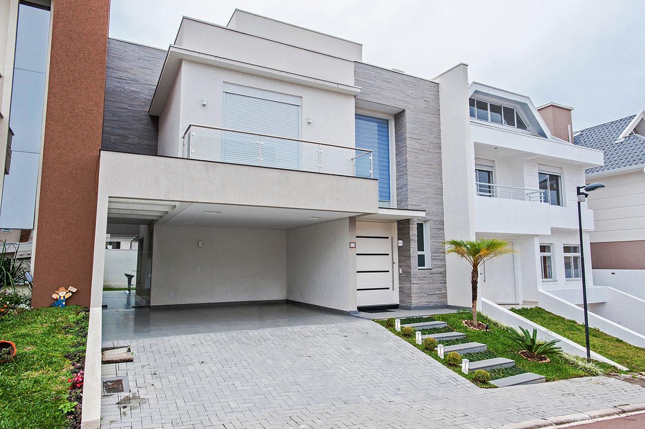 Modelo de casa bonita para condomínios fechados