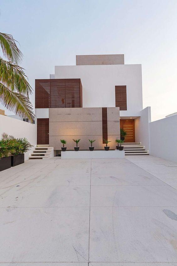 Casa com traços minimalistas