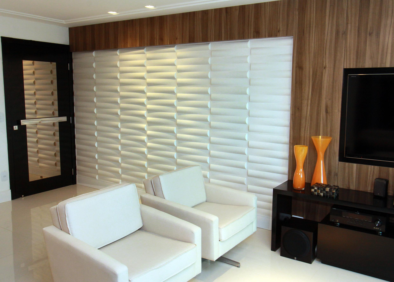 paineis de gesso 3d : imagem 1 painel de gesso para sala de estar